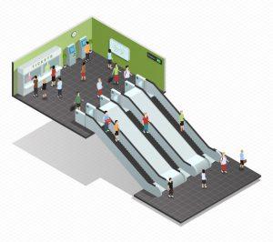 طراحی پله برقی