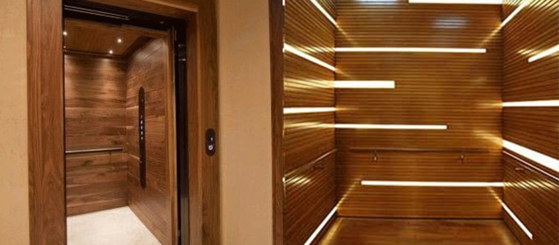 کابین آسانسور چوبی